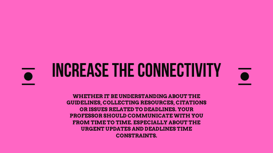 Increase the connectivity for the assignment submission