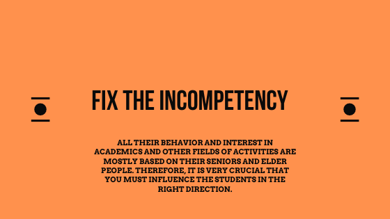 Fix the incompetency for the assignment