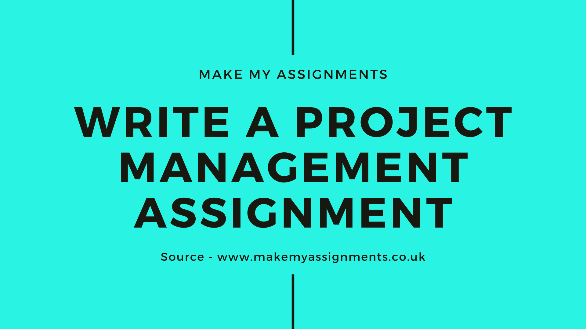 How to write a Project Management Assignment